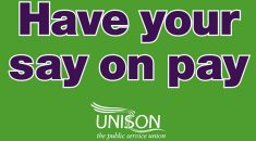 Have your say on pay graphic