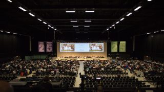 Inside the hall during a UNISON conference