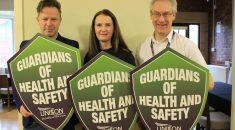 Three reps with Health and Safety Guardian shields