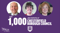 Chesterfield Borough Council graphic celebrating agreement with UNISON
