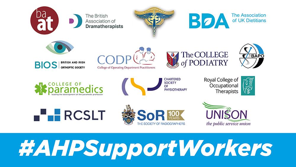 Various UK medical-related logos