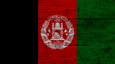 Wooden textured flag of Afghanistan