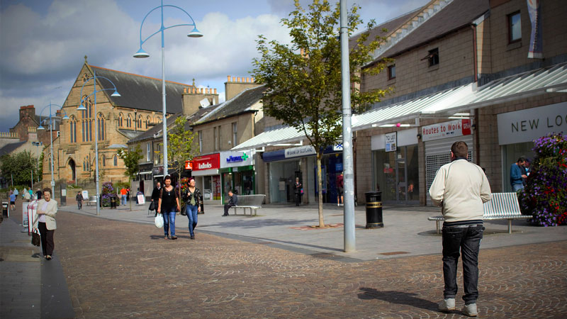 A street in Coatbridge, North Lanarkshire